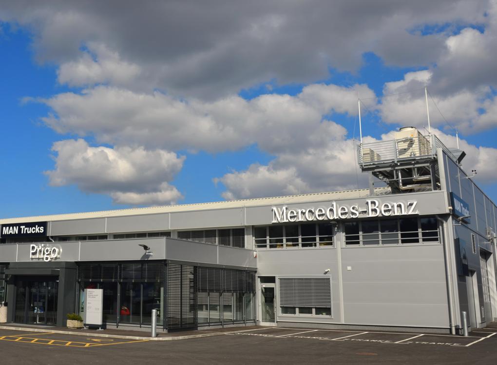 Nov servisni center za tovorna vozila na Brdu.